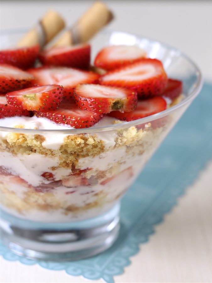 Sugee Strawberry Trifle