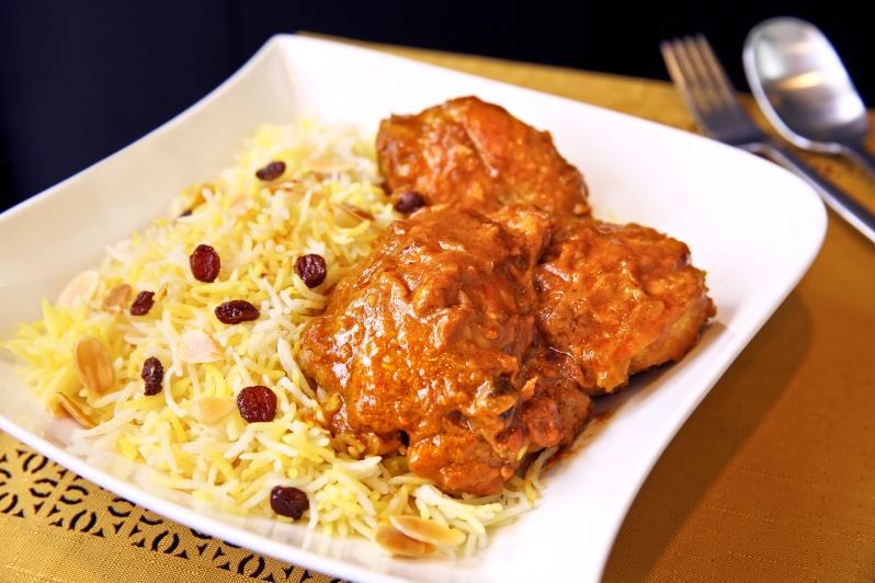 Nasi Minyak with Ayam Kuzi